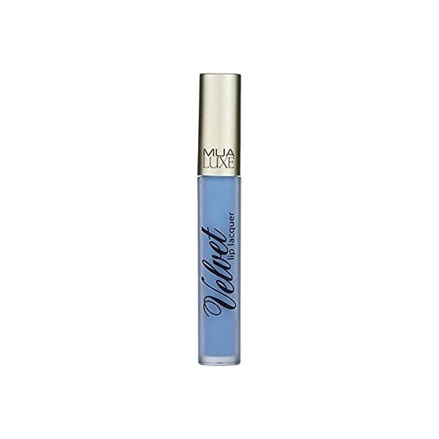 すすり泣きアクロバット風邪をひく012アイスデラックスベルベットのリップラッカー x4 - MUA Luxe Velvet Lip Lacquer Iced 012 (Pack of 4) [並行輸入品]