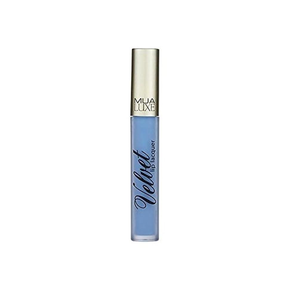 嫉妬構成する想像力MUA Luxe Velvet Lip Lacquer Iced 012 (Pack of 6) - 012アイスデラックスベルベットのリップラッカー x6 [並行輸入品]
