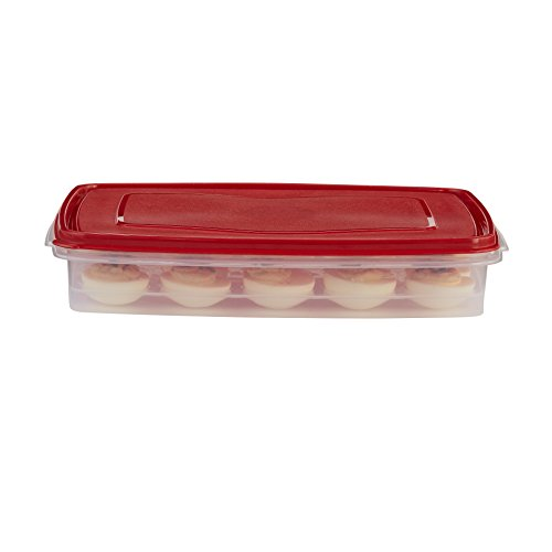Rubbermaid Specialty Egg Keeper Food Storage Container 1777192, White
