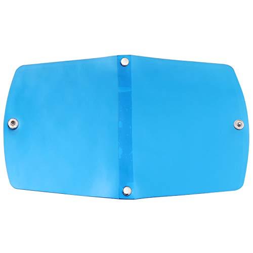 Toyvian Gesichtsabdeckung Aufbewahrungsclip Staubdichte Faltbar Wiederverwendbar Tragbar Mundabdeckung Organizer Gesichtsschutz Beutel Halter (Blau)