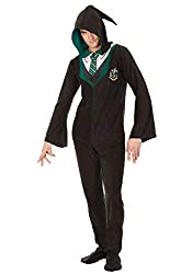 Harry Potter Slytherin House Uniform Hooded Footie Pajama For Men