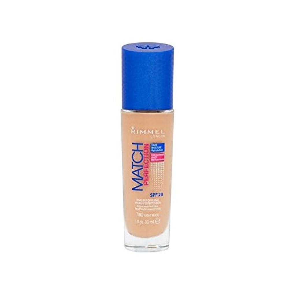軸強打テロリストRimmel Match Perfection Foundation Light Nude (Pack of 6) - ヌードリンメルマッチ完璧基礎ライト x6 [並行輸入品]