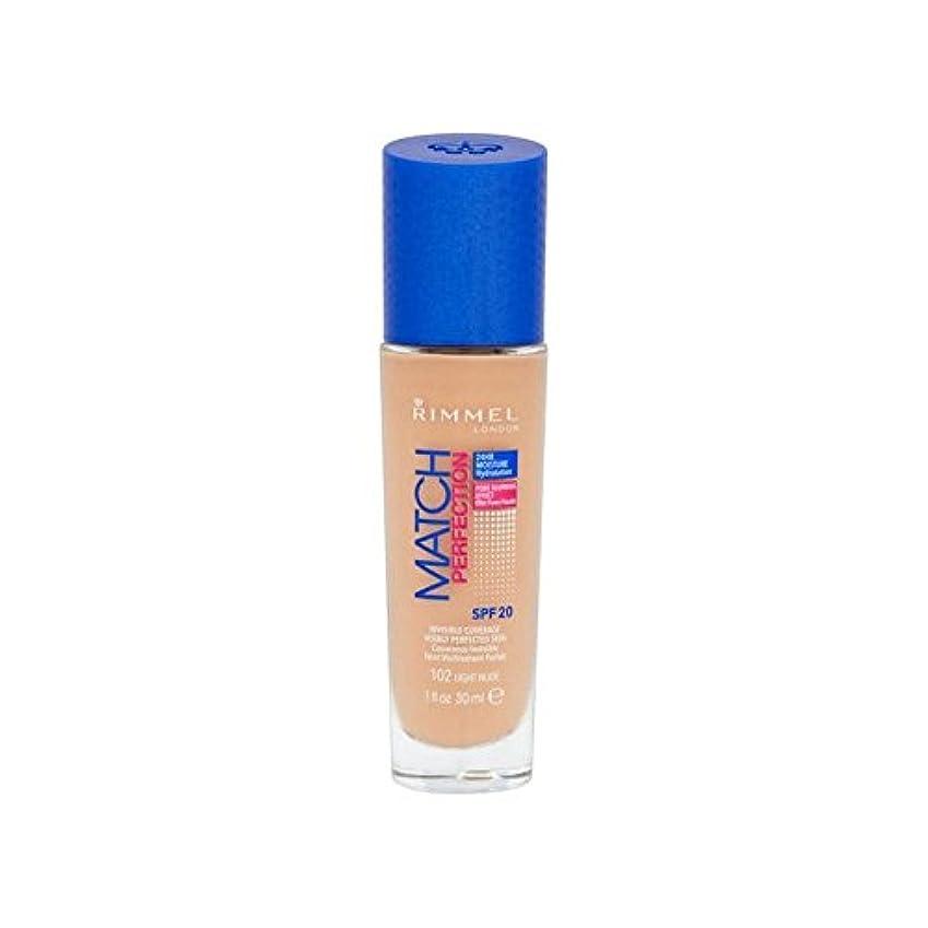 市の中心部刺激する剥離Rimmel Match Perfection Foundation Light Nude (Pack of 6) - ヌードリンメルマッチ完璧基礎ライト x6 [並行輸入品]