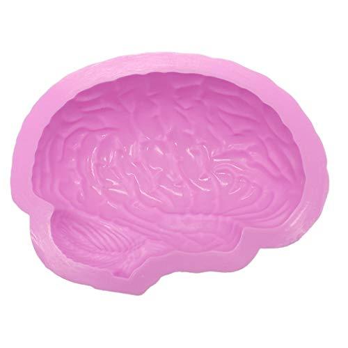 rongweiwang Menschliche Gehirn Form Pan Backen Silikon-Halloween-Silikon-Backform menschlichen Kuchen-Form-Pudding Jello Nachtischbrot Mold