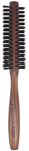Spornette Deville 1 ½ Inch Round Boar Bristle Hair Brush (#312) - Round Brush for Blow Drying,...