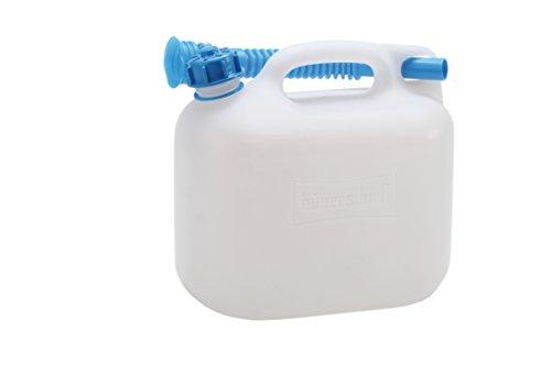 hünersdorff Wasserkanister ECO mit Auslaufrohr und unverlierbarer Deckelverschraubung, 6 Liter, Made in Germany