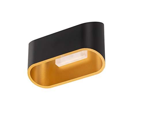 ACTION by WOFI wandlamp, metaal, 4,5 W, FIA, zwart