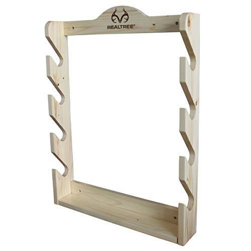 Rush Creek Creations Real tree 4 Gun Wall Rack with Hidden Hardware - Handcrafted - Durable