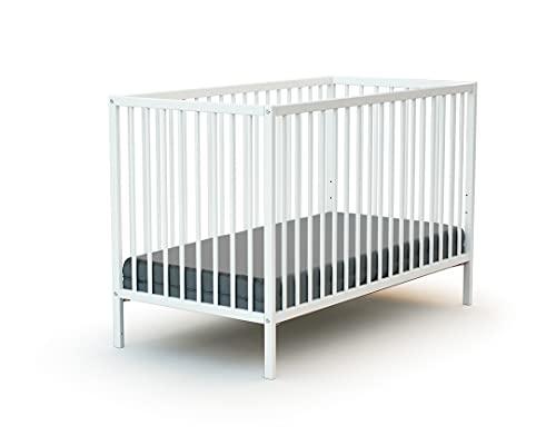 WEBABY - Lit bébé 60x120 Blanc