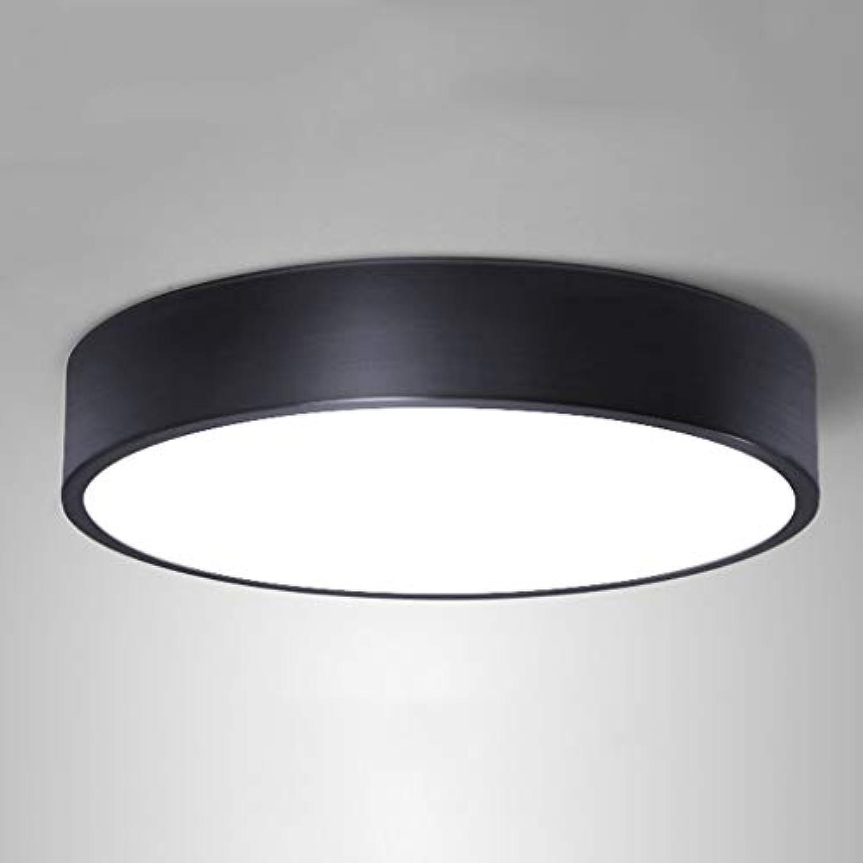 Deckenleuchte Led Circular Room Modern Light Einfache Raumbeleuchtung Personalisierte Balkonlampe Kreative Romantische Beleuchtung (Farbe  Schwarz Gre  32)