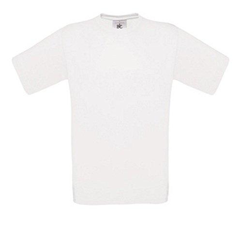 5er PACK T-Shirt mit kurzem Ärmel, Rundhalsbund. T-Shirt aus 100% ringgesponnener Baumwolle (XXXL, weiß)