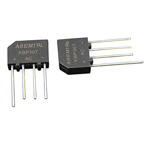 10x KBP307 ASEMI High Frequency Bridge Rectifier Diode 3A1000V for Power Adapter…