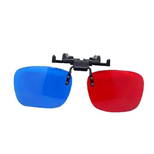 Zonfer 3D Vision Brille Multi Usage Rot-Blau Brille Anaglyph Glasses für Film-Spiel-Video-TV
