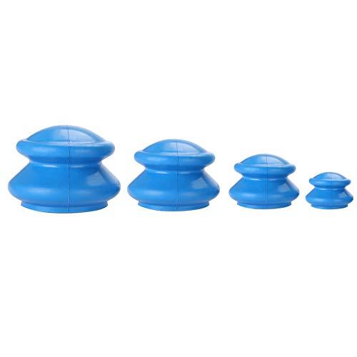 4PCS Schröpfen Set - starke Saug Silikon Vakuum Schröpfen Tassen Gerät Körpermassage Helfer, Schmerzlinderung, Entgiftung