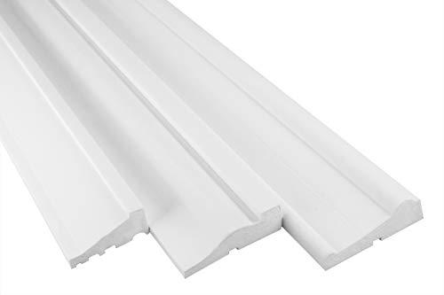 Musterstück Fassadenprofil - expandiertes Polystyrol mit Acryl PU - robust - Länge ca. 200 x 115 x 33 mm - MC154, Fassadenstuck, Verkleidung, Zierelement