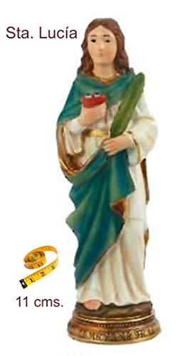 Heraldys.- Figura Santa Lucía 11 cms. en Resina, Pintada a Mano.