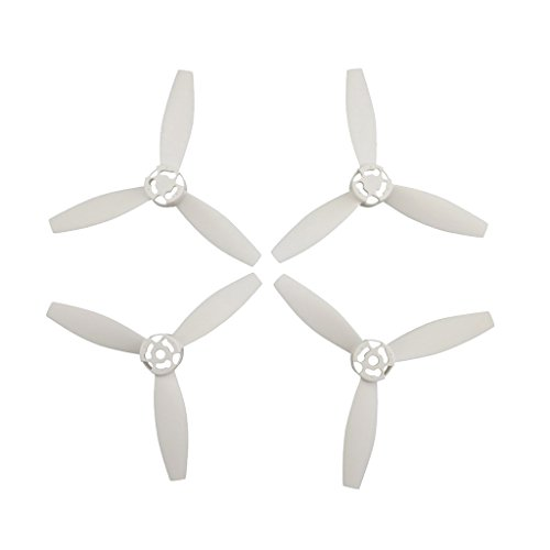 Eliche Potenziate Resistenti Al Vento 4Pieces Per Parrot Bebop 2 Drone - bianca