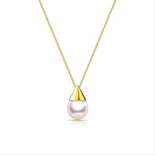 Nuovo Temperamento Creativo Perla Naturale Moda 925 Gioielli In Argento Sterling Piccola Lampadina Perline Conchiglia Collane A Catena Clavicola
