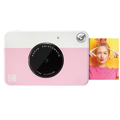 Kodak Printomatic - Fotocamera di stampa istantanea, stampa su Zink 5 x 7.6 cm, carta appiccicosa, rosa