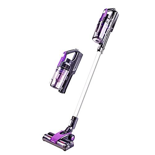 AOIWE 2 en 1 Limpiador de vacío inalámbrico de 8kPA Potente, Aspirador de Mano Vertical con luz LED, Ligero, para Piso Duro, Alfombra, Pelo Pet