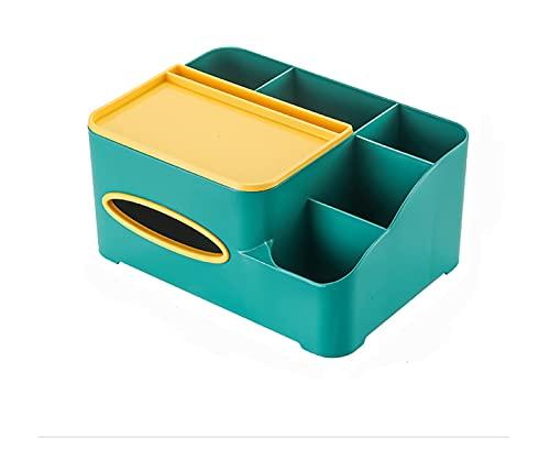 HSHOR Caja de pañuelos multifunción, Control Remoto de lápiz Caja de pañuelos de Tablero de Tapa de Recipiente de Almacenamiento de Escritorio para Uso doméstico y Oficina