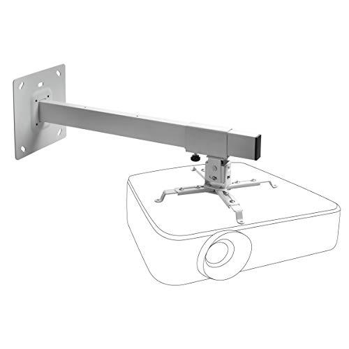 celexon Beamer-Wandhalterung MultiCel WM800 - weiß - Wandabstand bis 80 cm - bis 15 kg - Neig- und schwenkbar