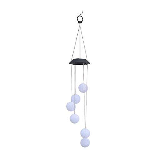 Isuper Romantische Kristallkugelglühend Wind Chime Wasserdicht Farbwechsel Solarbetriebene Außen Wind Bell Licht für Patio-Garten-Haus-Lampen