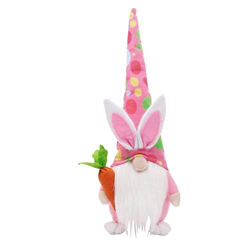 Conejo de Pascua, decoración de gnomo para dormitorio, salón, chimenea, 1 muñeca sin cara, adorno para mesa de fiesta, muñeca de peluche para escritorio, figuras de gnomo para conejos de Pascua (B)