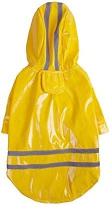 DDSP Huisdier waterdichte regenjas jas outdoor jas hond jas jas huisdier benodigdheden kleding warme waterdichte winter kleine harnas katoen kleur geel maat S