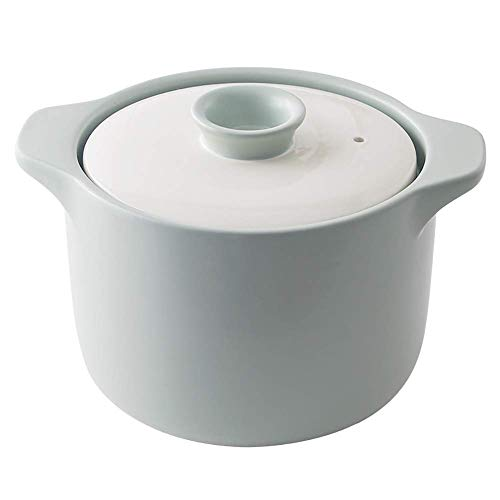 Sopera de Terracota Antiadherente con Fuego Abierto FÁCIL DE Limpiar Horno holandés con Tapa Cacerola de cerámica de Doble asa Rosa 2,43 Cuartos (2,3 l)