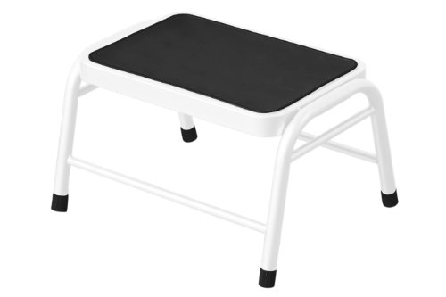 Premier Housewares - Peldaño (Metal con Superficie de Goma, 25 x 43 x 35 cm), Color Blanco
