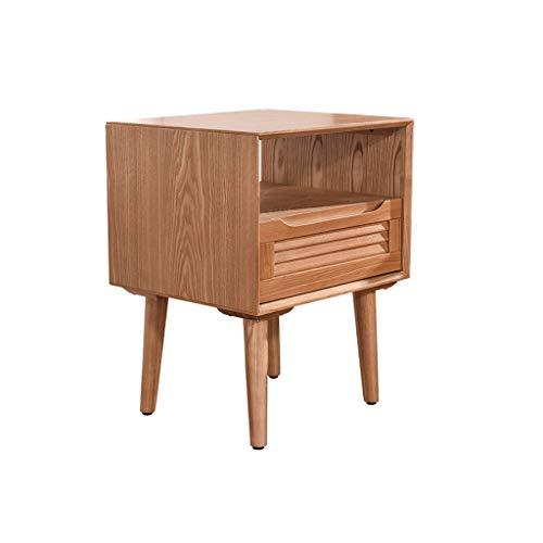 XXT Nachttisch Schlafzimmer Spind, Schlafzimmer Nachttisch, Wohnzimmer Locker, Wohnzimmer Sofa Seitenschrank (Color : Wood Color)