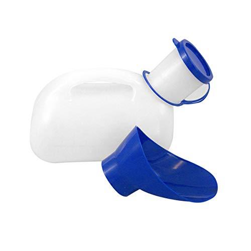 LACKINGONE - Inodoro portátil de emergencia, aseo de viaje, camping portátil de plástico (urinal) con mango 1000 ml