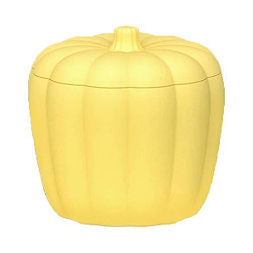 Haucy Cubitera con tapa, de silicona, calabaza, cubitera de hielo para cocina, bandeja para cubitos de hielo para zumo de frutas, bebidas, whisky, cócteles, 13 x 13 x 12,5 cm