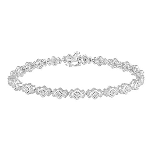 1.00 Carat tw Natural Diamond Tennis Bracelet in 925 Sterling Silver