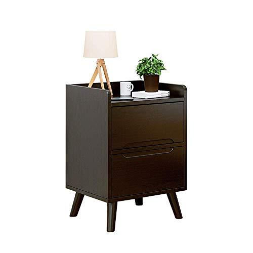 Tägliche Ausrüstung Nachttische Nordic Minimalist Multifunktionales Schlafzimmer Kommode Aufbewahrung Lagerung Doppel-Nachttisch (Farbe: Braun Größe: 37x34x57.5cm)