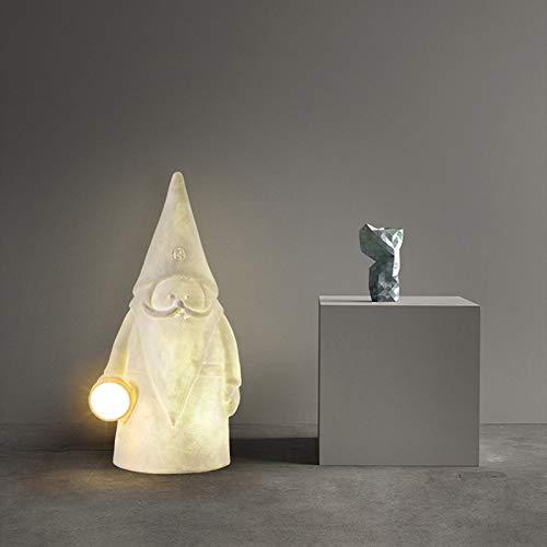 SVHK Lámpara de pie moderna, personalidad de la lámpara de pie de resina del villano creativo de la personalidad, lámparas móviles para interiores y exteriores, lámparas de decoración de dormitorio de