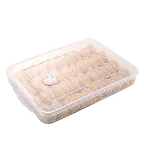 Caja de almacenamiento de alimentos para frigorífico, organizador de accesorios de cocina, caja fresca, albóndigas, pinza para huevos de verduras, puede acumularse transparente, 31,5 x 23 x 4,3 cm