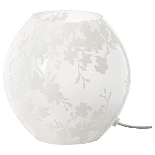IKEA KNUBBIG Tischleuchte in weiß; aus Frostglas; (18cm); A++