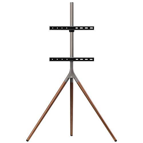One For All Universelles Tripod TV-Stativ - Bildschirmgrößen 32-65\'\' - LCD/LED/Plasma/OLED/QLED-TV-Geräte/schwenkbar um 360° - Höhenverstellbar - VESA 400x400 - elegantes Design - WM7471