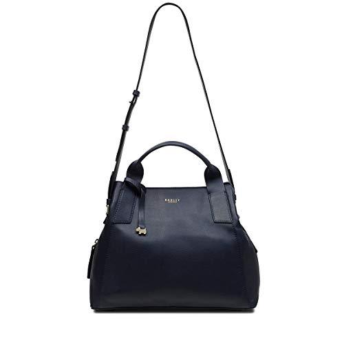 Radley London Baylis Road Damen-Handtasche aus Leder mit Tragegriff, Blau (navy), Medium