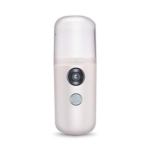 ZengBuks Mini pulverizador de Niebla port/átil Hidratante Facial USB Recargable Instrumento de Belleza Humidificador Facial Pulverizador de Agua de enfriamiento Diario Blanco