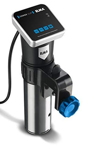 ELMA - COCEDOR A BAJA TEMPERATURA DE PRECISIÓN COOKER CLIP- Temporizador Digital-Incluye un pack de bolsas para envasar al vacío de ELMA