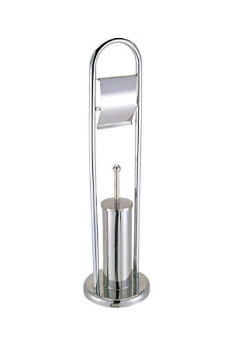 HERSIG - Escobillero Portarrollos Baño | Escobillero con Portarrollos de Papel Higienico Metalizado