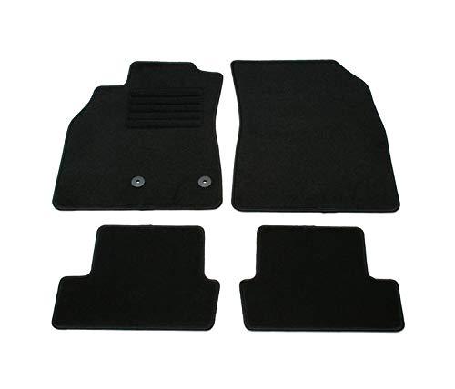 Alfombrillas negras VD137 para todo tipo de clima, sin olor, de terciopelo, 4 piezas, compatible con Renault Megane 3 puertas, 5 puertas, Estate Grandtour 2008 2009 2010 2011 2012