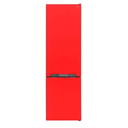 Sharp SJ-BA05IMXRE-EU Kühl-Gefrier-Kombination,E,180 cm Höhe,195 L Kühlteil,75 L Gefrierteil,NoFrost,Elektronische Steuerung,ZeroDegreeZone,Rot