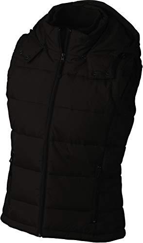 James & Nicholson - Modische Damen-Steppweste mit abnehmbarer Kapuze / black, XL