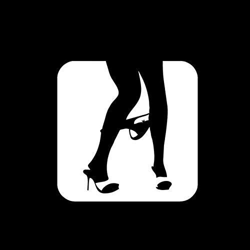 Sexy ondergoed off gepersonaliseerde auto stickers csfssd (Color : White)