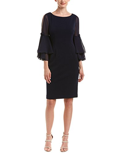 Eliza J Women's Shift Dress with Bell Sleeves, Navy, 10