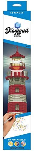 Diamond Art by Leisure Arts - Powered by Diamond Dotz - 5D DIY Diamond Painting Kit - Lighthouse Design